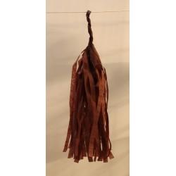 Tassel papier chocolat poche de 5 pompoms