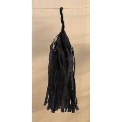 Tassel papier noir poche de 5 pompoms