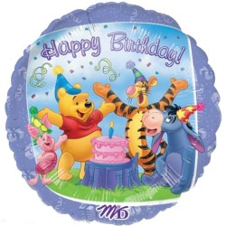 Ballon métal 45 cm diamètre winnie birthday