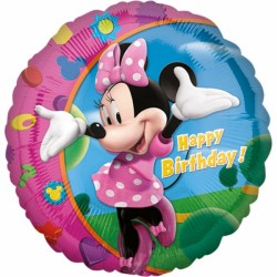 ballon alu Minie Happy Birthday 45 cm17797 AMSCAN Mickey Et Minnie
