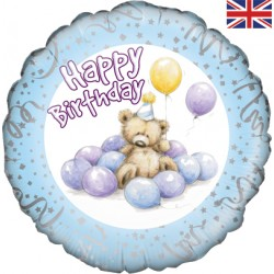 Petit ours aux ballons bleus birthday228427 Anniversaires Chiffres