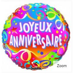 ballon joyeux anniversaire 45 cm