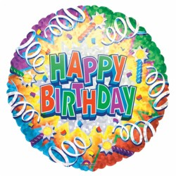 low priced 0b251 8fbe6 Happy birthday explosion 30090 AMSCAN Anniversaire Ballons Metal Mylar