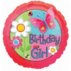 Ballon Happy birthday Garden girl119888 AMSCAN Birthday Girl