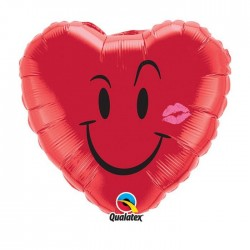 ballon mylar métal coeur rouge QUALATEX