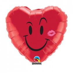 coeur rouge ballon mylar 45cm