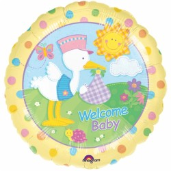 cigogne Welcome baby ballon mylar