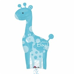 Giraffe bébé it's a boy ballon mylar 64*107cm