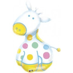Giraffe ballon métal 122 cm