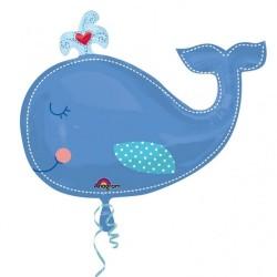 Baleine ballon mylar 61*86 cm non gonflé