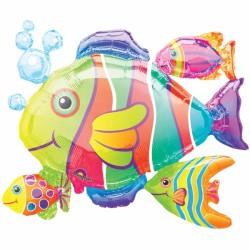 Ballon poisson tropicaux076747 AMSCAN Mer Pêche Poissons