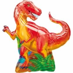 dinosaure ballon mylar 74*79 cm non gonflé