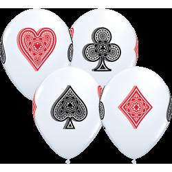ballons 28 cm sur le thème du jeu et des casinos