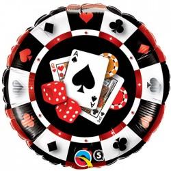 Jeton casino ballons mylar foil 46 cm