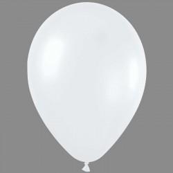 PERLE de culture (blanc) ballons métalisé nacré 28 cm diamètre