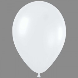 PERLE de culture (blanc) ballons métalisé nacré 28 cm BWS30cmperleblcp100 BWS 28 cm métallises Italie