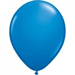 100 ballons qualatex 28 cm opaque bleu foncé