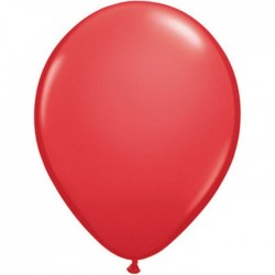 100 ballons qualatex 28 cm opaque rouge