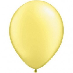 qualatex perlé pastel citron 28 cm poche de 100