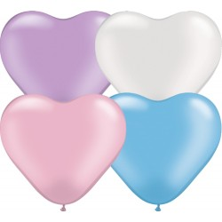 coeur 15 cm assortiment perlés en poche de 10017741 perlé q6 p100 QUALATEX COEUR 15 CM (air)