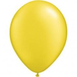 qualatex perlé jaune citron 28 cm en poche de 100