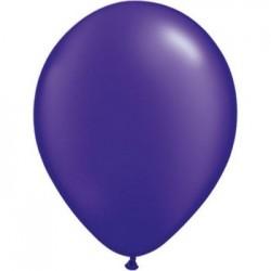 perlé violet 28 cm en poche de 10043784 ppv q28 p100 QUALATEX 28 Cm Perlés Foncés (Satin, Nacré, Perlé,Métal) 28 Cm Ø Ballons...