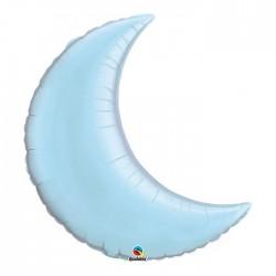Croissant lune bleu pastel 88 cm mylar