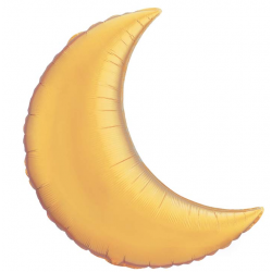 lune or 90 cm36530 lune or 90 QUALATEX Croissant De Lune 90 Cm