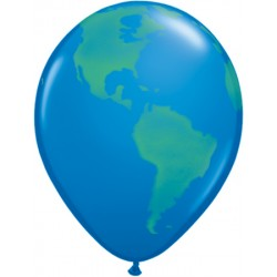 qualatex 40 cm mappemonde poche de 239596 GLOBE4P2 QUALATEX Divers Themes Ballons Decoration Imprimes