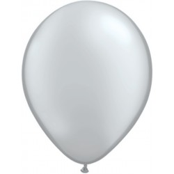 qualatex 28 cm argent poche de 100
