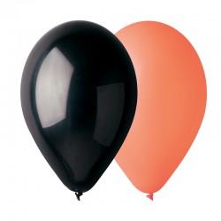 50 ballons orange et noir 30 cm