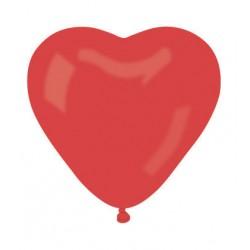 ballons baudruche coeur ROUGE 12 cm de diamètrebws c12 rouge BWS Coeurs Gamme Eco