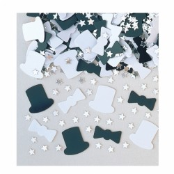 confetti métallique chapeau black and white993011 AMSCAN Confettis Metalliques Pour Decoration Tables