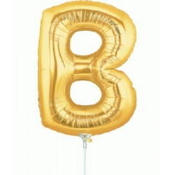 B lettre 35 cm mylar or