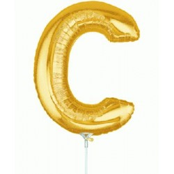 C lettre 35 cm mylar or