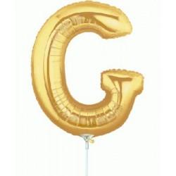 G lettre 35 cm mylar argent
