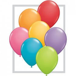 25 ballons qualatex 28 cm couleurs festival