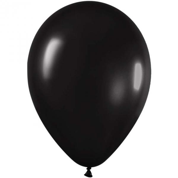 100 ballons sempertex 30 cm métal noir 580