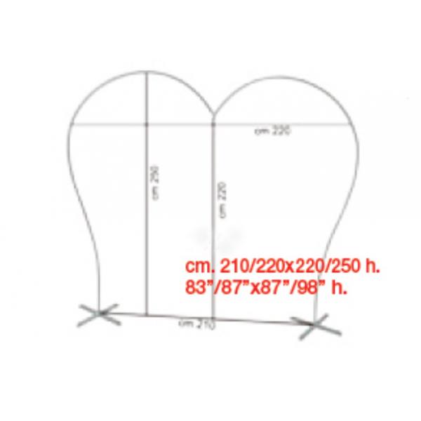 structure arche coeurarche coeur BWS Structures Pour Décorations