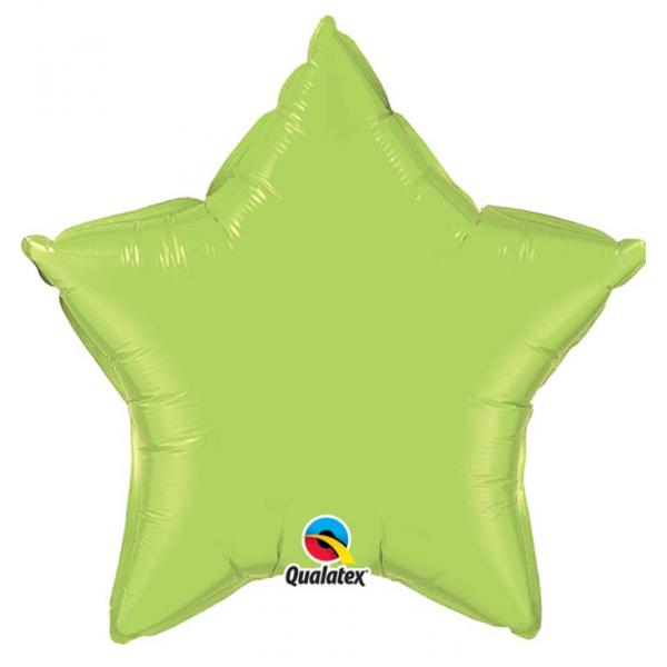 Etoile mylar vert lime 90 cm non gonflé QUALATEX Etoiles 90 cm