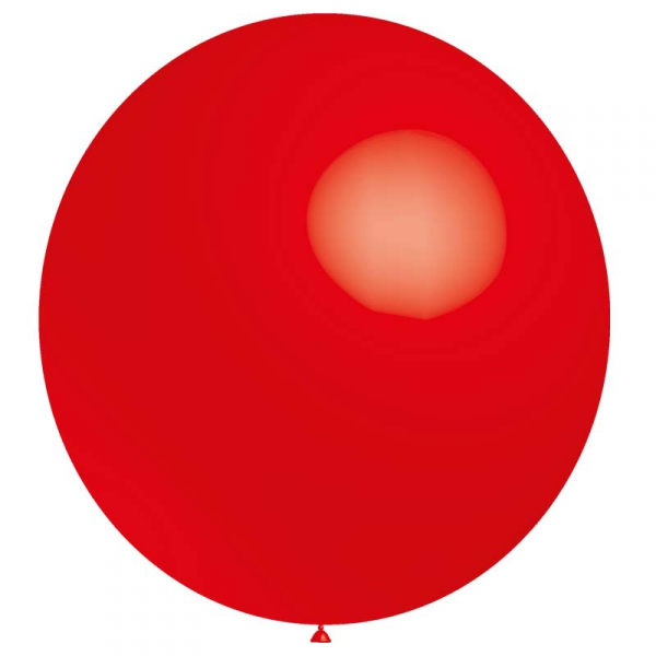 ballon baudruche 140 cm de diamètre rouge BALOONIA 140 et 180 cm