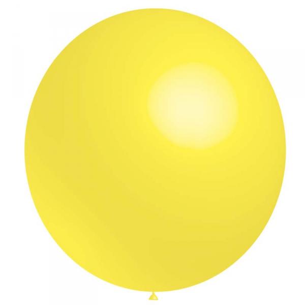 1 ballon baudruche 140 cm de diamètre jauneHG400 JAUNE BALOONIA 140 et 180 cm ballons ronds