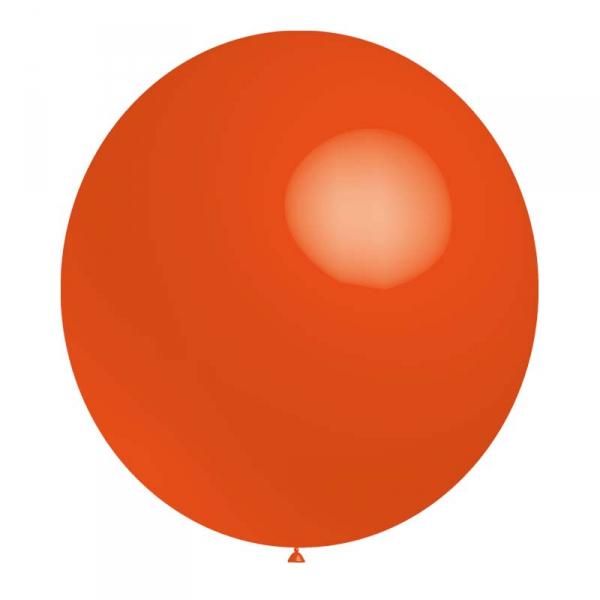 ballon baudruche 140 cm de diamètre orange BALOONIA 140 et 180 cm