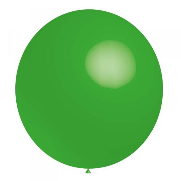 ballon baudruche 140 cm de diamètre vert BALOONIA 140 et 180 cm