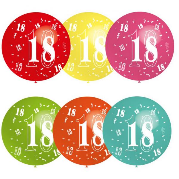 18 rond 90 CM sens héliumBNIA 18 BALOONIA 18