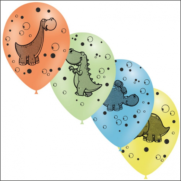 25 ballons dinosaure