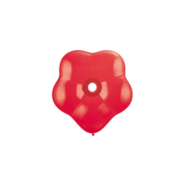 50 qualatex géo blossom 15 cm rouge18630 QUALATEX poche de 8 ballons