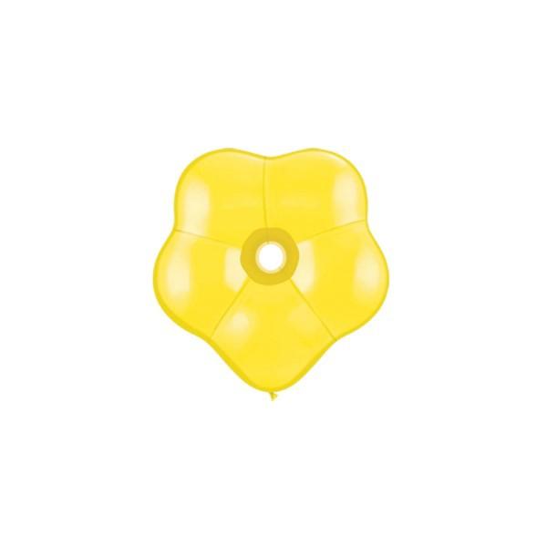 qualatex géo blossom 15 cm jaune QUALATEX Geo Blossom 15 Cm Diamêtre