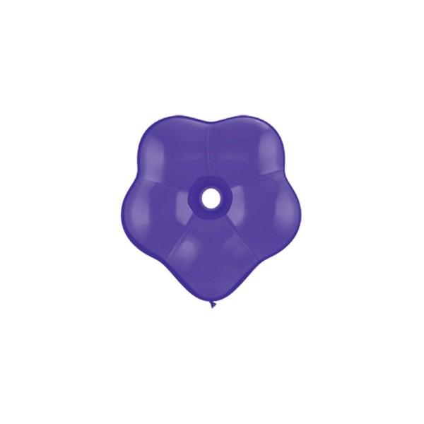 qualatex géo blossom 15 cm violet QUALATEX poche de 8 ballons