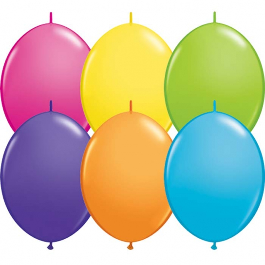 50 Ballons couleur tropical quick link 30 cm15346 QL30TROPICAL QUALATEX Double Attaches Qualatex